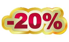 Скидка 20% для всех!